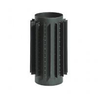 Радіатор сталевий чорний 2мм L=500мм